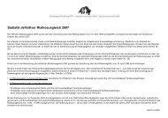 Statistik 2007 - Gemeinsame Einrichtung KVG