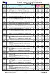 Ambulante Operationen mit Punktwertzuschlag (PDF - 0,16 ... - KVHB