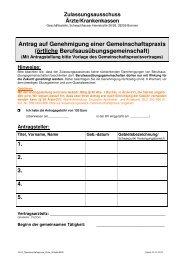 Gemeinschaftspraxis (örtlich) (pdf - 24 kB) - KVHB