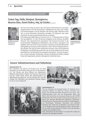 Sprachen - Kreisvolkshochschule Holzminden