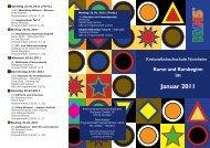 KVHS Moantsprogramm Januar 2011 - Kreisvolkshochschule ...