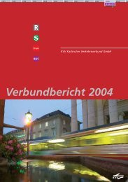 Verbundbericht 2004 - KVV - Karlsruher Verkehrsverbund