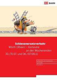 Schienenersatzverkehr Wörth (Rhein) – Karlsruhe an den ...