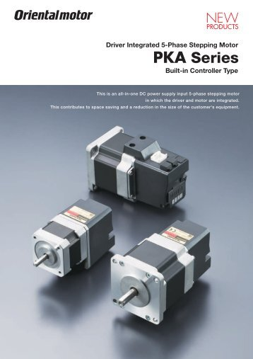 Driver Integrated 5-Phase Stepping Motor PKA Series ... - Kwapil & Co