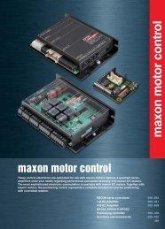 Summary maxon motor control
