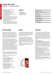 maxon DC motor  Technik – kurz und bündig