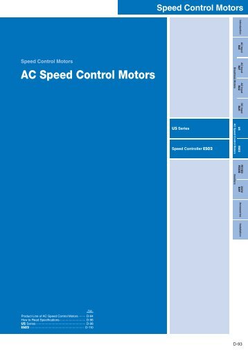 AC Speed Control Motors - Kwapil & Co