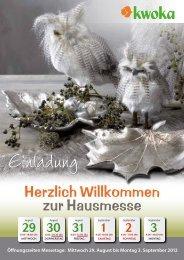 zur Hausmesse Herzlich Willkommen - Kwoka Floristik Handels GmbH