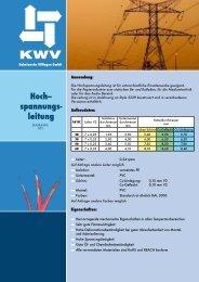 Hochspannungsleitung - KWV Kabelwerke Villingen GmbH