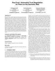PeerTrust: Automated Trust Negotiation for Peers ... - Daniel Olmedilla