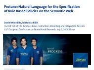 Protune: Natural Language for the Specification ... - Daniel Olmedilla