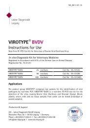 VIROTYPE® BVDV Manual - Labor Diagnostik GmbH
