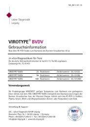 Gebrauchsanleitung VIROTYPE® BVDV - Labor Diagnostik GmbH
