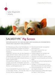 Diagnostika für Schweine