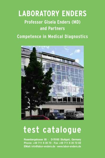 test catalogue - Labor Enders & Partner
