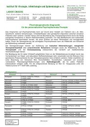 Psychopharmaka - Labor Enders & Partner