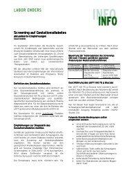 Info Gestationsdiabetes - Labor Enders & Partner