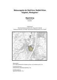 Bebauungsplan der Stadt Konz, Stadtteil Könen Teilgebiet ...