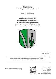 Begründung mit integriertem Umweltbericht zum ... - Konz