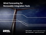 Wind Forecasting for Renewable Integration Tools - Idaho Power