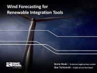 Wind Forecasting for Renewable Integration Tools - Idaho Power