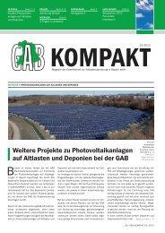 GAB KOMPAKT 01/2012 8-seitiges Magazin - GAB Gesellschaft zur ...