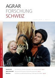 Download PDF - Agrarforschung Schweiz