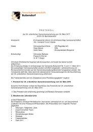 Protokoll der 35. ordentlichen Generalversammlung - FGB Aktuelles