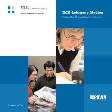 Imk-Lehrgang Medien - HTW Chur