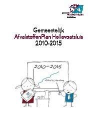 GAP 2010 – 2015 - Welkom bij gemeente Hellevoetsluis