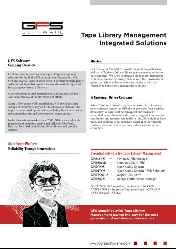 Integrated Solutions - GFS Software