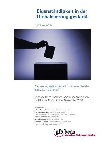 Identität Schweiz 2010 (PDF) In einem neuen Fenster