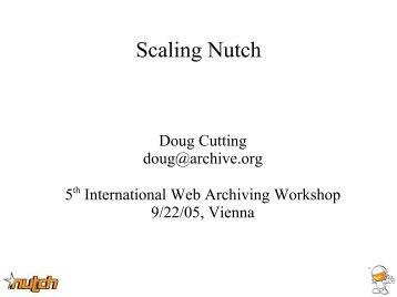 Scaling Nutch - International Web Archiving Workshop