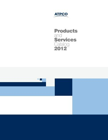 Products and Services Catalog 2012 - atpco