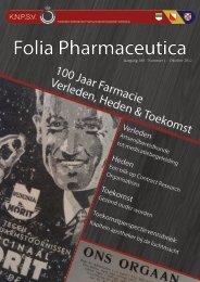 Folia jaargang 100 - Nr.1 - Koninklijke Nederlandse ...