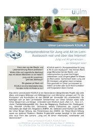 Ulmer Lernnetzwerk KOJALA: alt und jung gemeinsam!