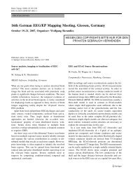 16th German EEG/EP Mapping Meeting, Giessen, Germany