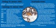 Freitag 14. Januar 2005 Samstag 15. Januar 2005 FearNada-News