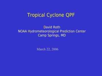Tropical Cyclone QPF