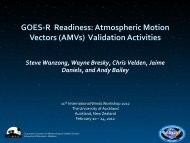GOES-‐R Readiness: Atmospheric Motion Vectors (AMVs ...
