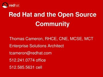 Red Hat and the Open Source Community - Red Hat People