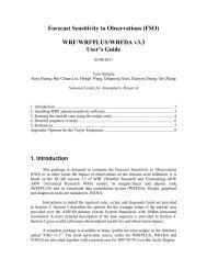 WRF-ARW User's Guide - MMM - UCAR