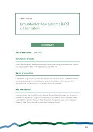 Groundwater flow systems (GFS) - Land and Water Australia