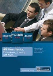 GfT Finanz Service. Finanzierung, Leasing und Miete.