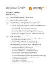Gesundheitszentrum Mürzzuschlag - Politik - Land Steiermark