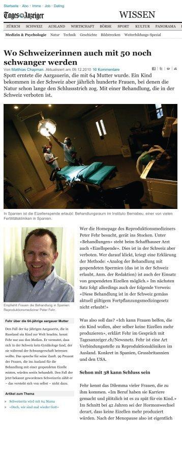 Artikel aus Tagesanzeiger, Dez. 2010 (PDF)