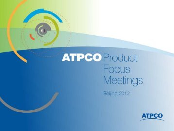 Fare Management with Market View - atpco