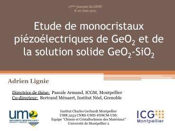 Exposé 02 : A. Lignie (IGM, Montpellier)