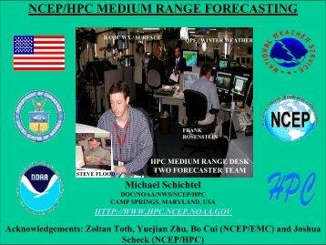 NCEP/HPC - European Centre for Medium-Range Weather Forecasts