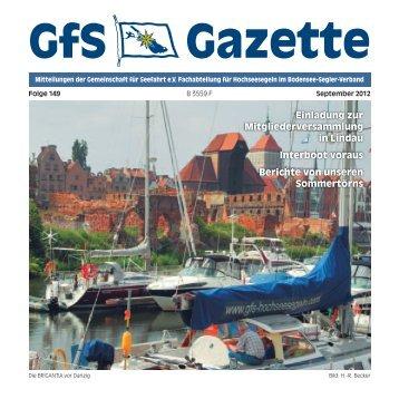 Gazette 149:Gazette 140.qxd - Hochseesegeln mit der GfS